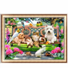 DIY 5D Diamond Embroidery Cat Dog Animal Diamond Painting Cross Stitch Kits Home Decor Christmas gift diamond picture #K400Y#
