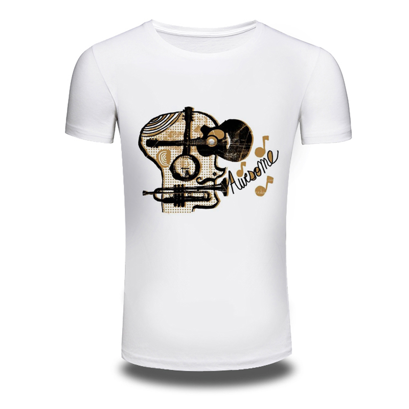 DY 85 Punk Music Style 3D Printer font b Mens b font T font b shirts