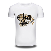 DY-85 Punk Music Style 3D Printer Mens T-shirts Trendy Leisure Baritone Tee shirts White New Tshirts Oversized M-3XL