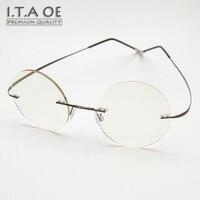 ITAOE Steve Jobs 2 Templos de Aleación Elástica Estilo Sin Rebordes Unisex Hombres Mujeres Miopía gafas de Lectura Óptica Gafas Marcos Gafas Gafas
