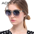 AOFLY Fashion Cat Eye Sunglasses Women Brand Designer Glasses Oval Mirror Glasses High Quality Vintage Accessories Oculos UV400