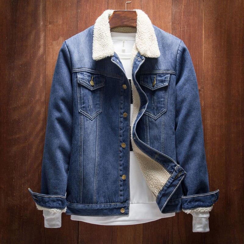 2017 Men Jacket And Coats Brand Clothing Denim Jacket Fashion Mens Jeans Jacket Thick Warm ...