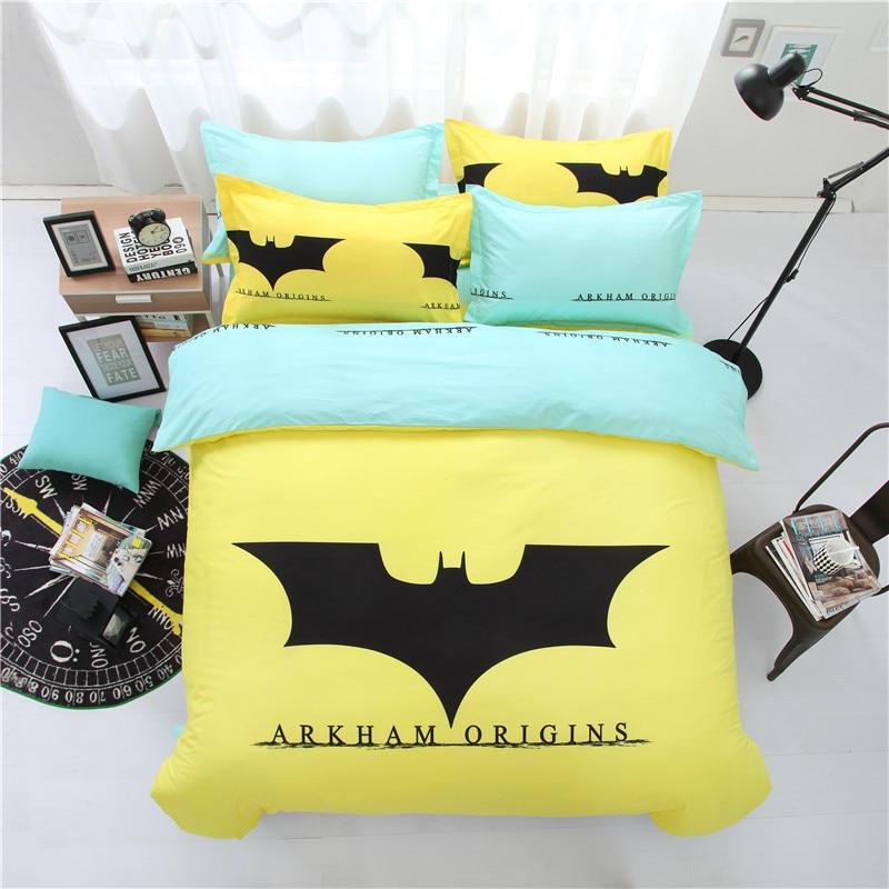 Hot Sale Yellow Cartoon Batman Bedding Set Kids Cute ...