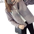 H. SA Outono Inverno Cardigans Blusas Mulheres 2016 Curto Cropped Moda Quente Jumper Oversized Sweater Casaco Cardigan Curto Mulheres