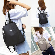 купить New Fashion Small Backpack Women Travel Nylon Shoulder Bag Black School Bags for Teenager Girls дешево