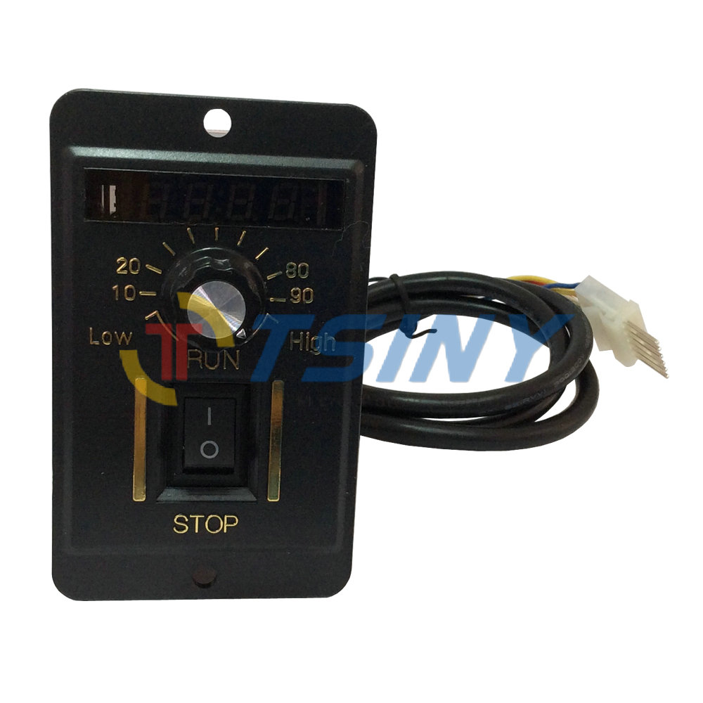 6W Digital Display 220V AC Motor Electrical Speed Controller Regulator Switch 220v ac digital speed governor speed control unit motor speed regulator 6w to 200w for selection