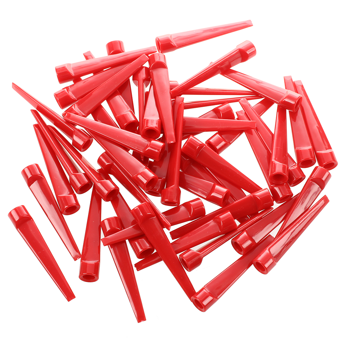 50pcs Plastic Golf Tee Tees (Red)