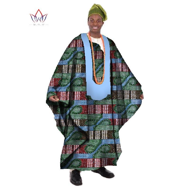 2017 Africain Imprimer Cire Sur Mesure Long Hommes Lâche Plus La - Vêtements nationaux - Photo 4