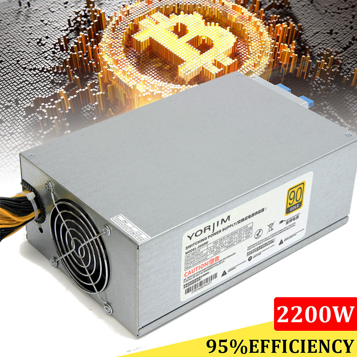 2200W Special Power Supply For ATX Mining Machine Support 8 Pieces Graphics Card High Quality ATX Computer Power Supply For BTC mining machine atx power supply 2200w 180 260v switching power supply 90