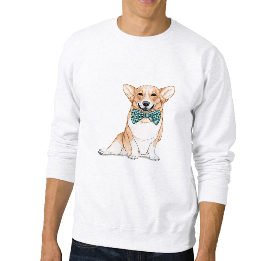 Dog Jacket Casual Funny Sweatshirt Hoodies & Sweatshirts Fashion Men Hoody Fleece Hoodies Corgi Hoodie Id Rather Be Home With My Corgi