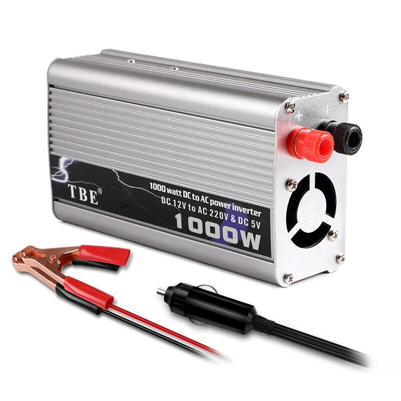 1000 W voiture onduleur à onde sinusoïdale modifiée DC12V 24 V à AC220V 110 V convertisseur chargeur USB voiture allume-cigare adaptateur pour ordinateur portable