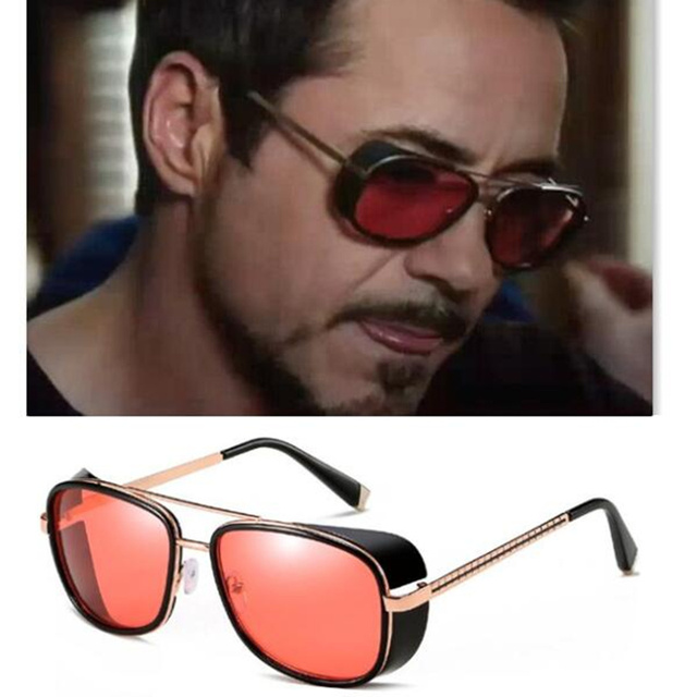 REALSTAR Steampunk Sunglasses Men Tony Stark Iron Man Matsuda Sunglasses  Retro Vintage Eyewear Sun Glasses UV400 53b1cc162c