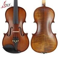 TONGLING Profession Advanced Hand craft Antique Matt Stripes Violin 4/4 Spruce Plate Naturel Flamed Maple Violin Ebony Parts