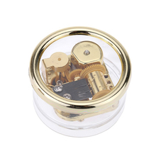 Round Creative Transparent Acrylic 18-note Wind-up Musical Box