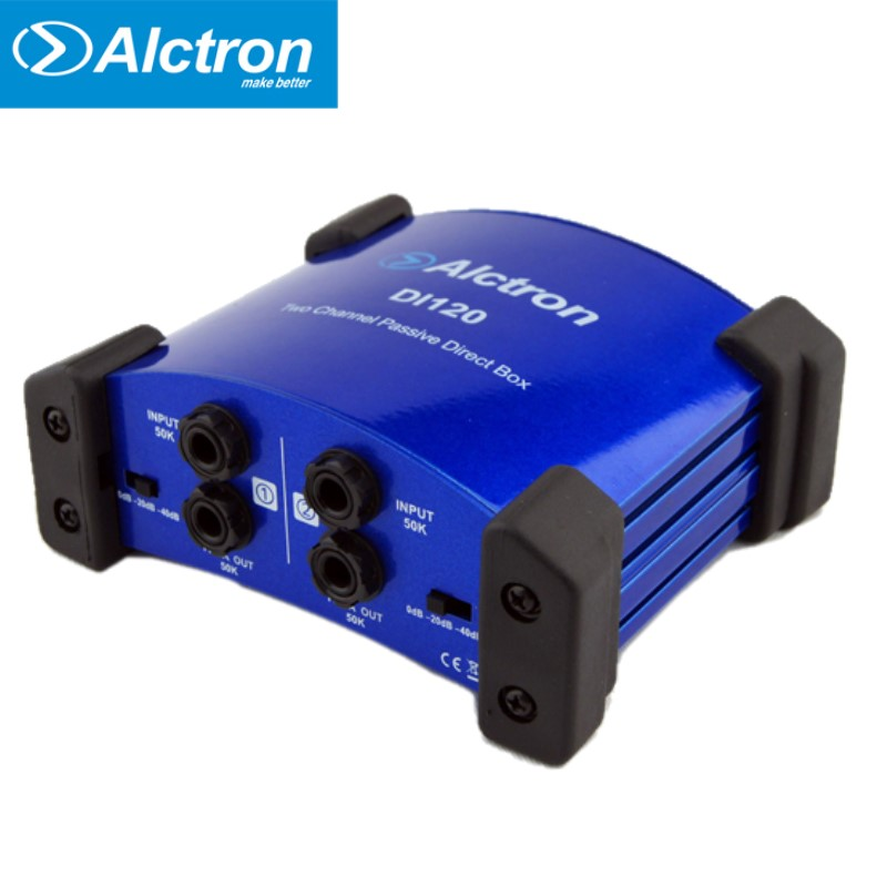 Alctron DI120 DI 120 passive DI box used in guitar recording stage performance great for keyboard