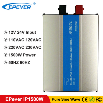 цена на EPever 1500W IPower Pure Sine Wave Inverter 12VDC 24VDC Input 110VAC 120VAC 220VAC 230VAC Output 50HZ 60HZ Off Grid Inverter