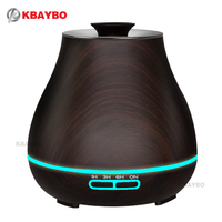400ml Aroma Essential Oil Diffuser Ultrasonic Air Humidifier With Wood Grain Electric LED Lights Aroma Diffuser