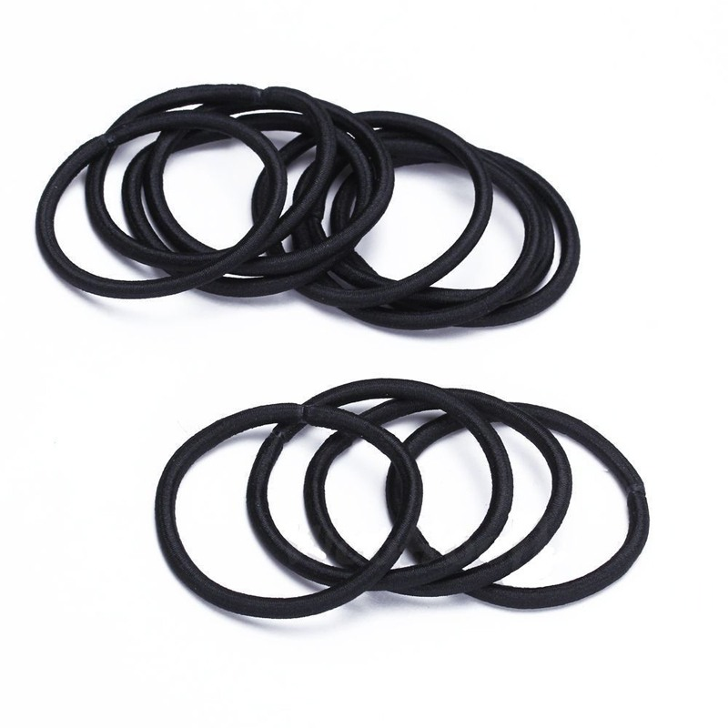2016 New 12pcs Black Elastic Rubber Hair Tie Band Ponytail Holder for Girls  Women Cool-in Women s Hair Accessories from Apparel Accessories on ... 9dfadd9b12b