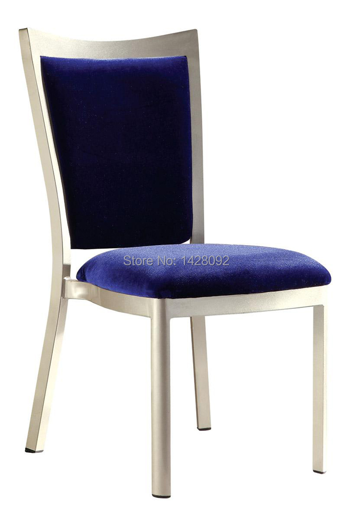 strong upholstered aluminum hotel dining chair LQ-L9101 цена