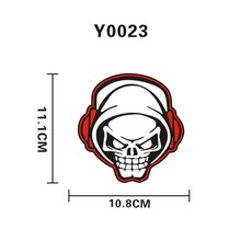 Y0023 Skeleton Listening Headset Car Sticker Car Motorcycle Trolley Travel Case Laptop Sticker