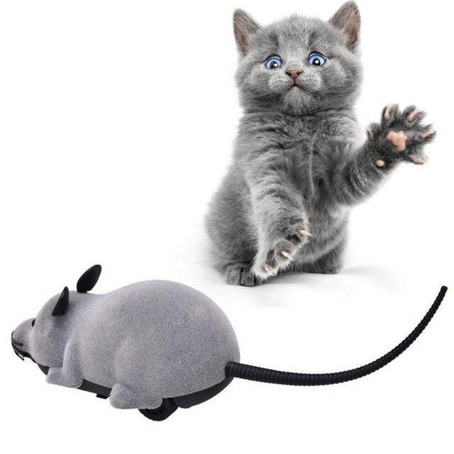 Игрушка для котов беспроводной пульт дистанционного управления Мышь электронная RC мыши игрушки для домашних котов мышь для детей игрушки