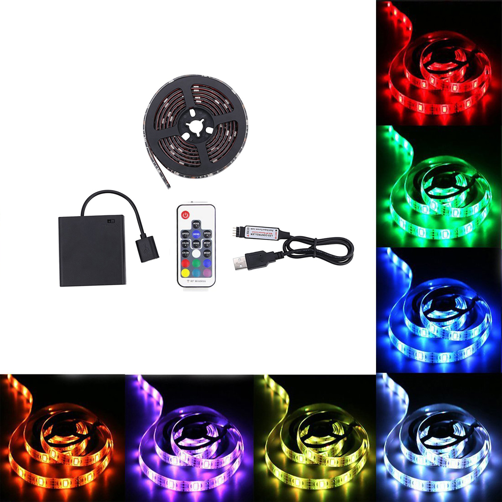 Battery Powered Usb Led Strip Light 5050 Rgb Waterproof