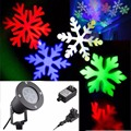 Moving Snow Laser Projector Landscape Snowflake LED Stage Light Waterproof Party Christmas Light Garden Lamp