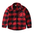 Kids girls red black plaid turn down collar shirts boy long sleeve autumn blouse tops teens shirt for boys girl school clothes
