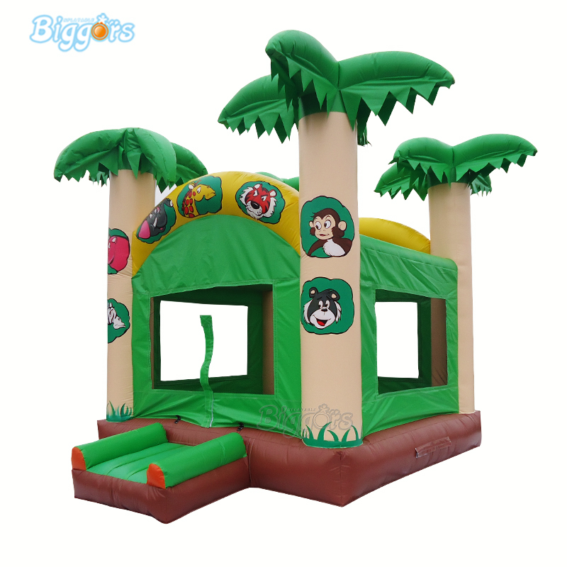 Yard Commercial Grade Tropical Bounce House Small Bouncy Castle