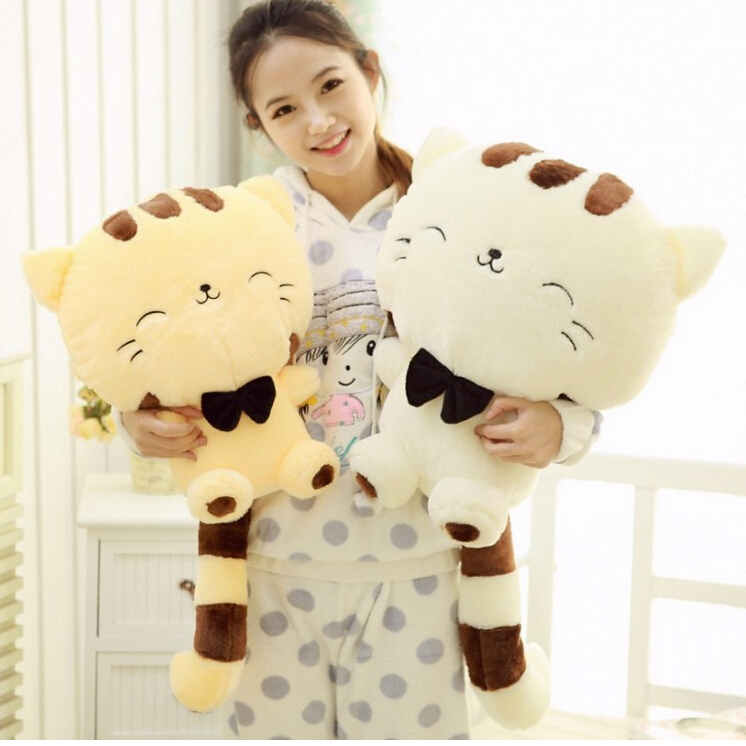 45cm lovely big face smiling cat stuffed plush toys soft animal dolls factory lowest price best. Black Bedroom Furniture Sets. Home Design Ideas