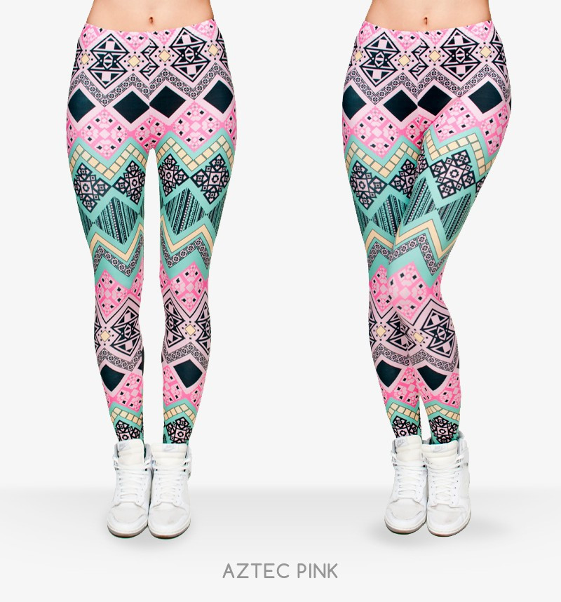 Zohra Brand New Fashion Aztec Printing legins Punk Women's Legging Stretchy Trousers Casual Slim fit Pants Leggings 5