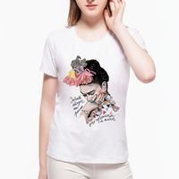2017 New Women T Shirt Trend Frida Kahlo Mexican Artist Watercolors T-Shirts Unicorn Mermaid Character Hipster T Shirt wBF9#