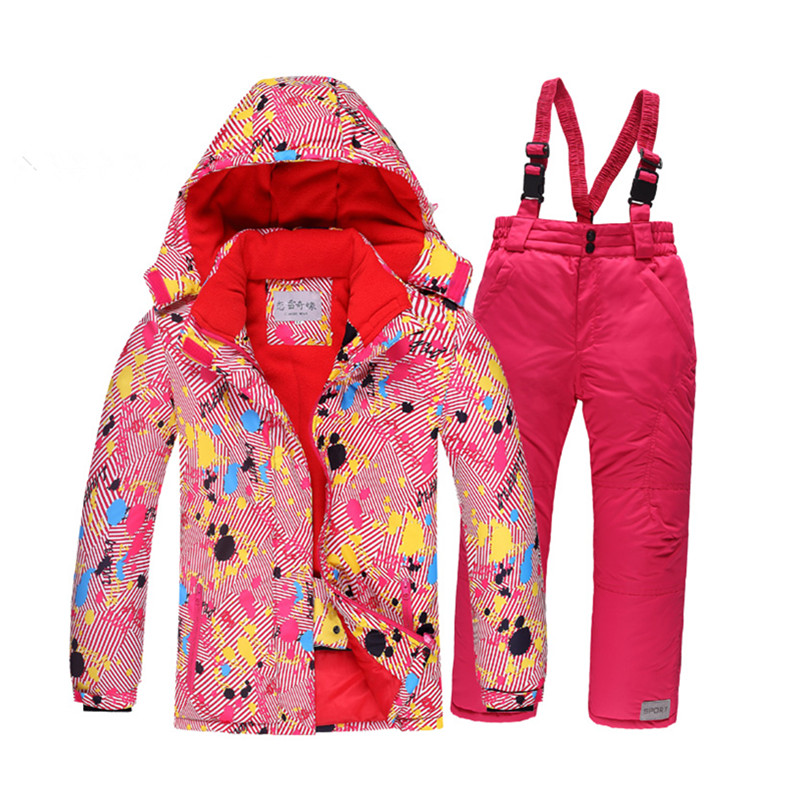 Winter childrens ski wear thick windproof waterproof boy and girl outdoor suit family windproof jacket plaid winter clothingWinter childrens ski wear thick windproof waterproof boy and girl outdoor suit family windproof jacket plaid winter clothing