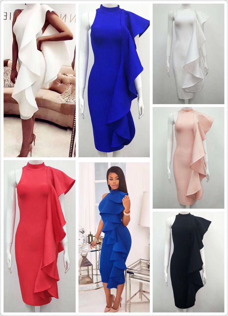 Partie Moulante Gros Rouge En Blanc 2017 Robes Summer Femmes Robe Bleu New Noir wqqXvBP