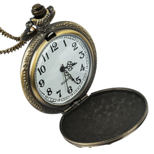 Vintage Quartz Pocket Watch Carp Pattern Flip Cover Alloy Chain Pendant Watches  Men Women Gift vintage women quartz pocket watch alloy openable blue flowers pattern lady sweater chain necklace pendant clock gifts ll
