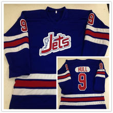 a7e210584 Vintage Winnipeg Jets  9 Bobby Hull WHA 1972-73 Hockey Jersey Embroidery Stitched  Customize any number and name