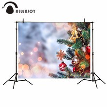 Allenjoy Christmas tree shiny spots photography background gifts decoration ornaments kid baby shower photo backdrop studio