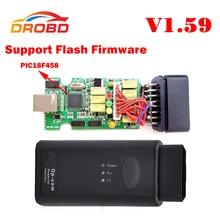 V1.59 Версия OP COM Диагностический Инструмент OBD2 Сканер с Реальными PIC18F458 Чип OP-COM/OPCOM Для OPEL VAUXHALL Поддержка Flash прошивки