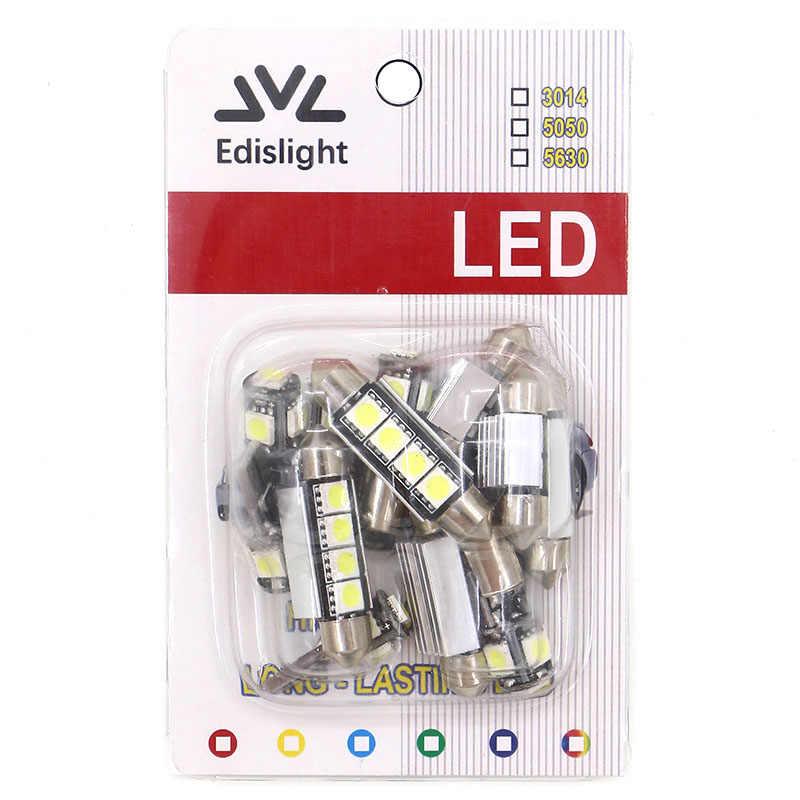 Edislight 11Pcs White Canbus LED Lamp Car Bulbs Interior Package Kit For 2008-2010 Volvo V70 Estate Map Trunk Door Plate Light
