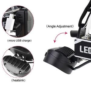 Image 3 - Индуктивный светодиодный налобный фонарь ZK20 с ИК датчиком движения тела светильник * T6 + 2 * COB, Прямая поставка, налобный фонарь, налобный фонарь с 2 аккумуляторами 18650