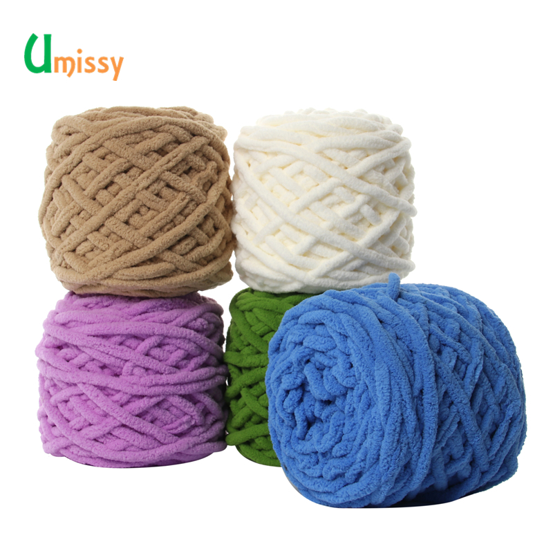 2pcs Colorful Dye Scarf Hand-knitted Yarn For Hand knitting Soft Milk Cotton Yarn Thick Wool Yarn Giant wool blanket 1
