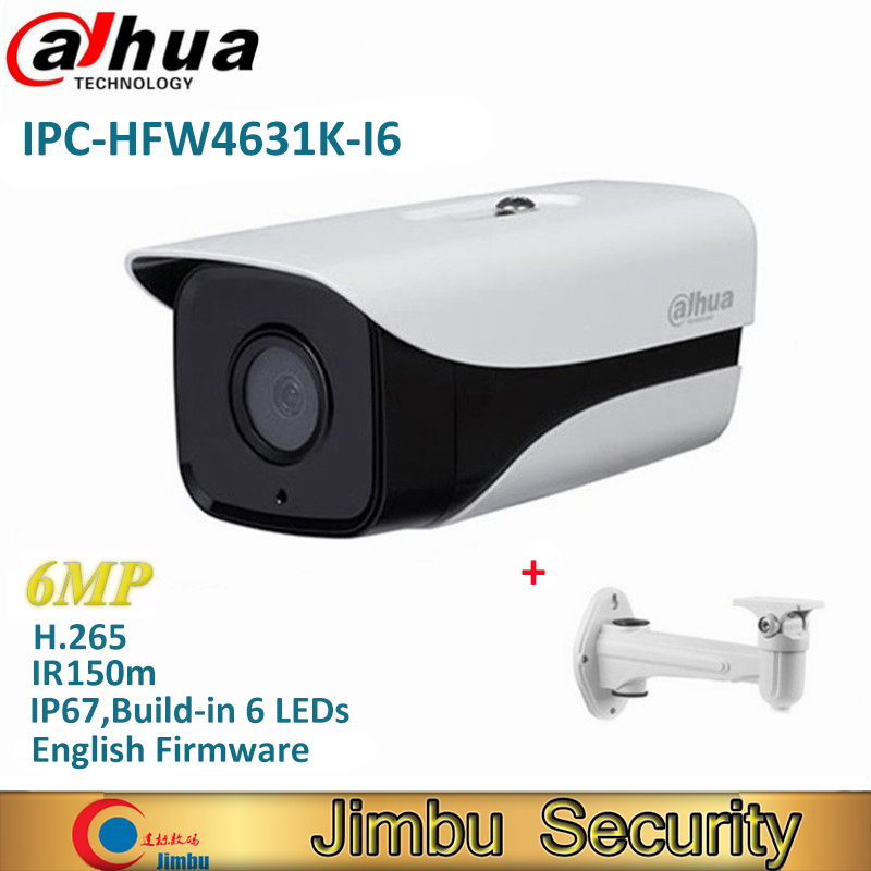 Dahua IPC-HFW4631K-I6 6Mp IVS Bullet Outdoor IP Camera H.265 IR 150m Built-in 6LEDs IP67 POE Security CCTV Camera free shipping dahua cctv camera 4k 8mp wdr ir mini bullet network camera ip67 with poe without logo ipc hfw4831e se