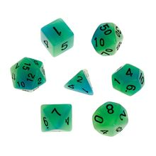 7pcs/set Luminous Polyhedral Sided Dice D4 D6 D8 D10 D12 D20 Set For Dungeons & Dragon D&D RPG Poly Game