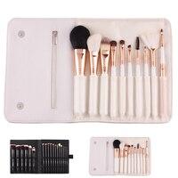 10/18pcs Foundation Brushes Kit Blending Power Eyeshadow Contour Concealer Blush Cosmetic Beauty Brushes