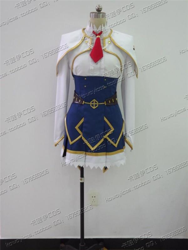Undefeated Bahamut Chronicle Lisesharte Atismata Cosplay Costume Sweet Love Blue Dress D
