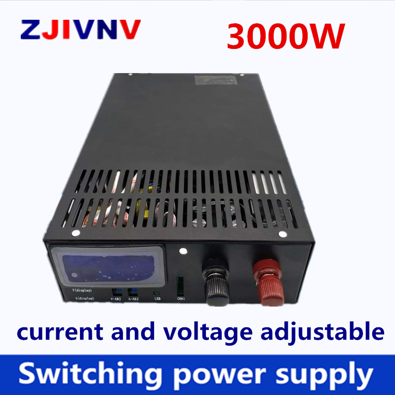 3000W alimentation à découpage sortie 72v 80v 90v 110v 200v dc, entrée 110/220VAC AC-DC SMPS alimentation
