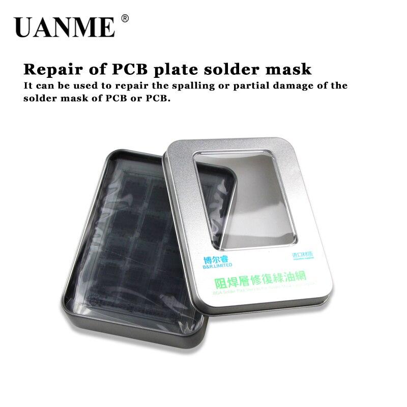 UANME 8 pcs efix IP BGA Stencil Kit Ferramenta de Tinta Máscara de Solda Verde Óleo Líquido para iPhone6 6 s 6 p 7 p iPad Potência do Flash NAND Wifi Toque IC