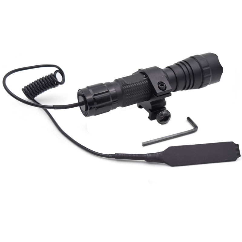 1 Mode 1000LM Tactical Flashlight T6 501B Hunting Torch lighting + Gun Mount +Remote switch