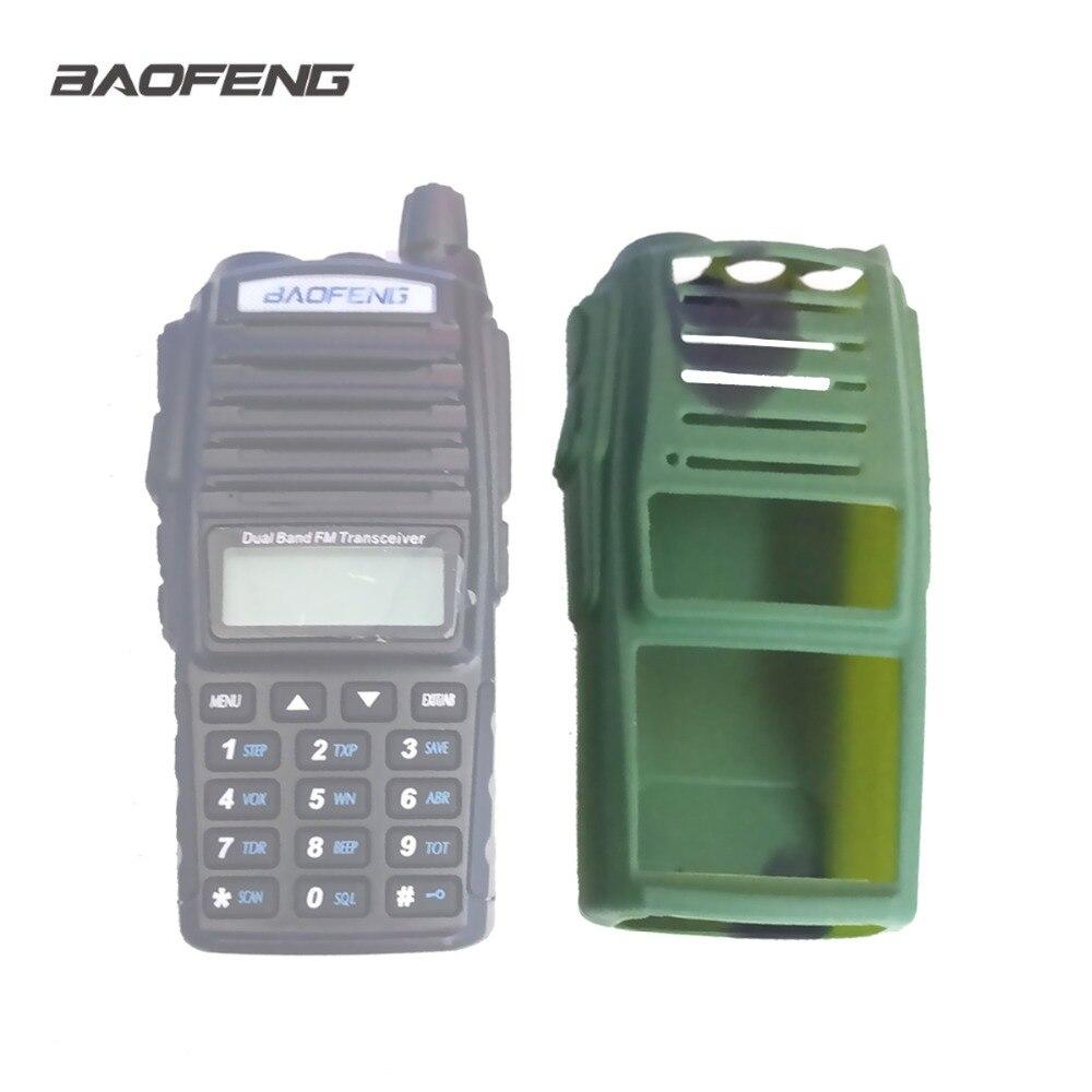Baofeng UV 82 walkie talkie caso de borracha uv82 camuflagem silicone capa resistente ao desgaste dustproof baofeng rádio camo proteger caso|Acessórios e Peças para Walkie-Talkie|   -