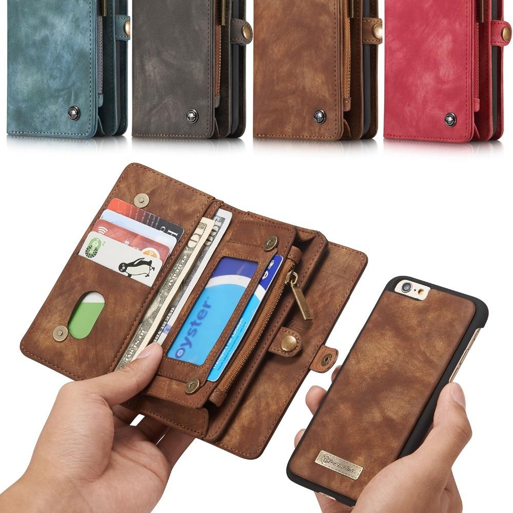 Цена за Для Apple iPhone 6 бизнес кожаный чехол Натуральная кожа флип чехол для iPhone 6S телефон сумка couqe caseme